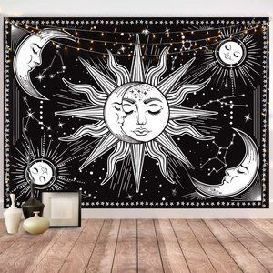Hotmir Black Wall Hanging Tapestry